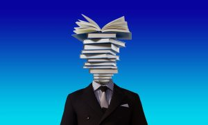 A man With Books on His Head