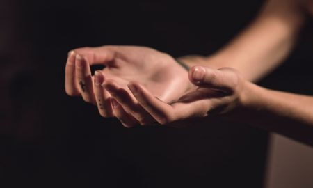 A close up of a hand