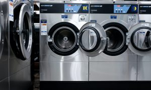 A close up of a t washing machine