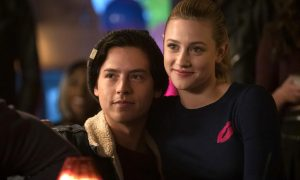 Cole Sprouse, Lili Reinhart looking at the camera