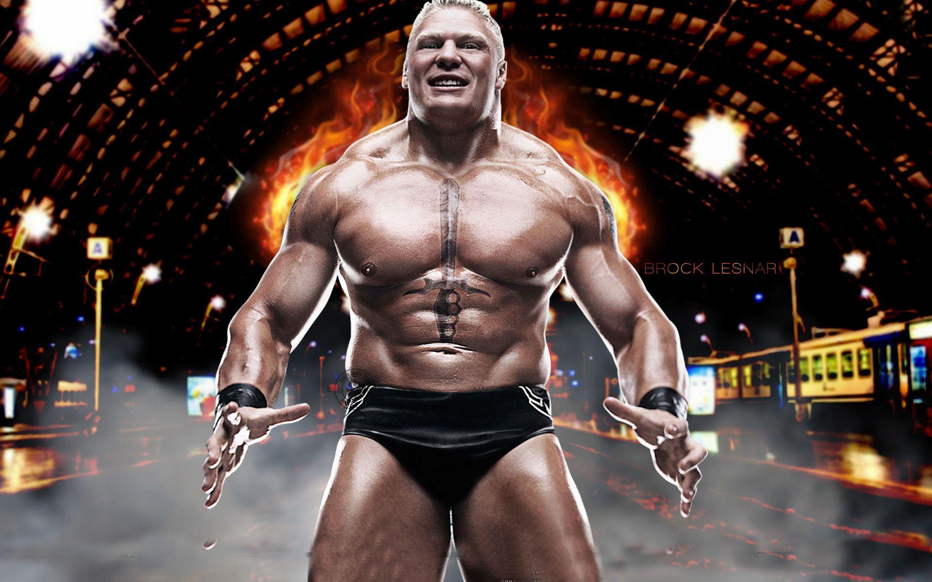 Brock Lesnar wearing a costume